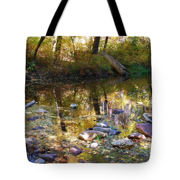 Tote Bag featuring the photograph Oak Creek Reflection by Tam Ryan