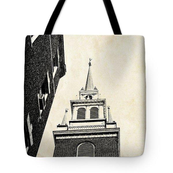 Old North Church In Boston Tote Bag by Elena Elisseeva