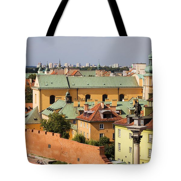 Old Town In Warsaw Tote Bag by Artur Bogacki