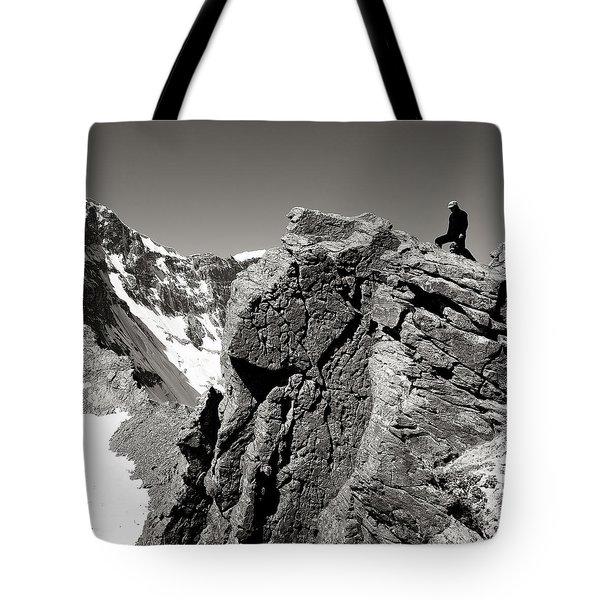 On The Rock Tote Bag by Konstantin Dikovsky