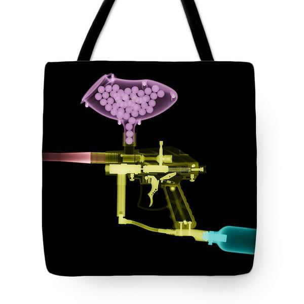 Paintball Gun Tote Bag by Ted Kinsman
