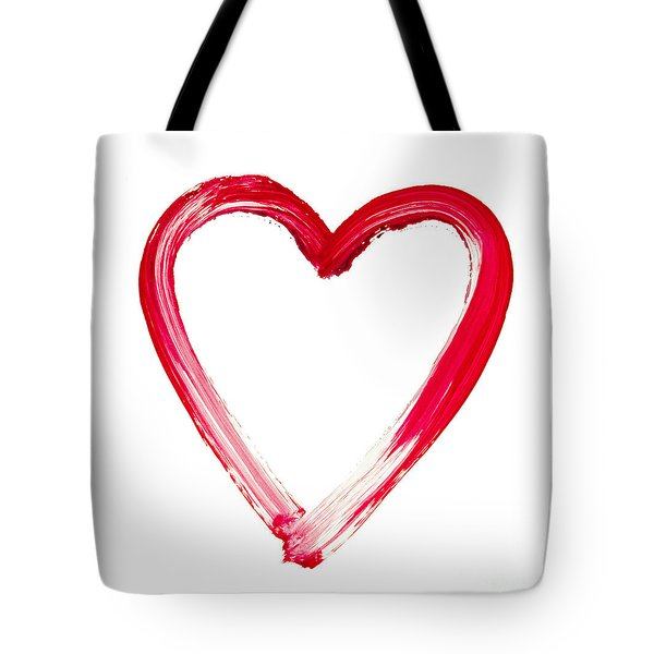 Painted Heart - Symbol Of Love Tote Bag by Michal Boubin