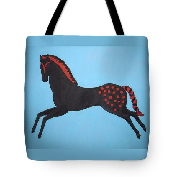 Painted Pony Tote Bag by Stephanie Moore
