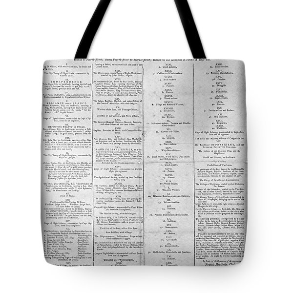 Parade For The Us Constitution Tote Bag by Photo Researchers