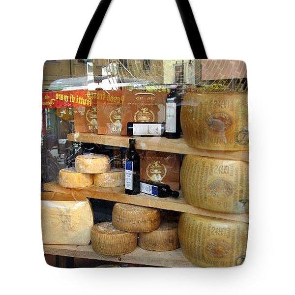 Parmesan Rounds Tote Bag by Carla Parris