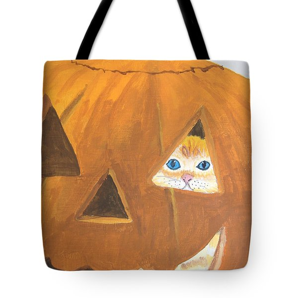 Tote Bag featuring the painting Peekaboo by Norm Starks