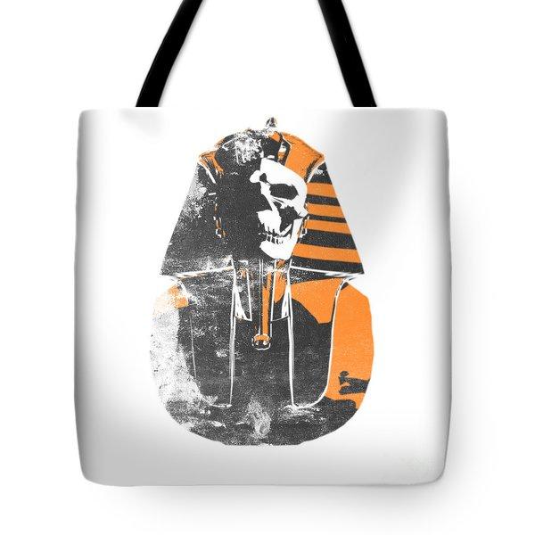 Pharaoh Stencil  Tote Bag by Pixel  Chimp