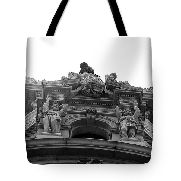 Philadelphia City Hall Looking Up Tote Bag by Bill Cannon