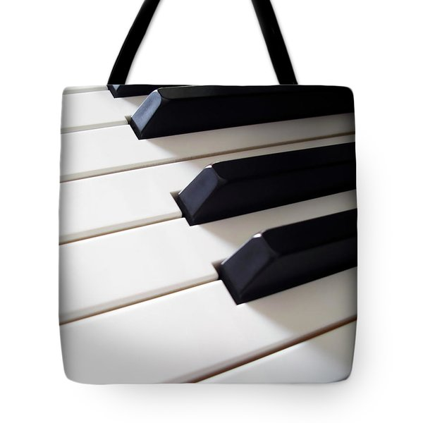 Piano Keys Tote Bag by Carlos Caetano