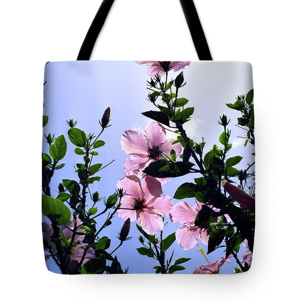 Pink Hibiscus Tote Bag by Kevin Smith