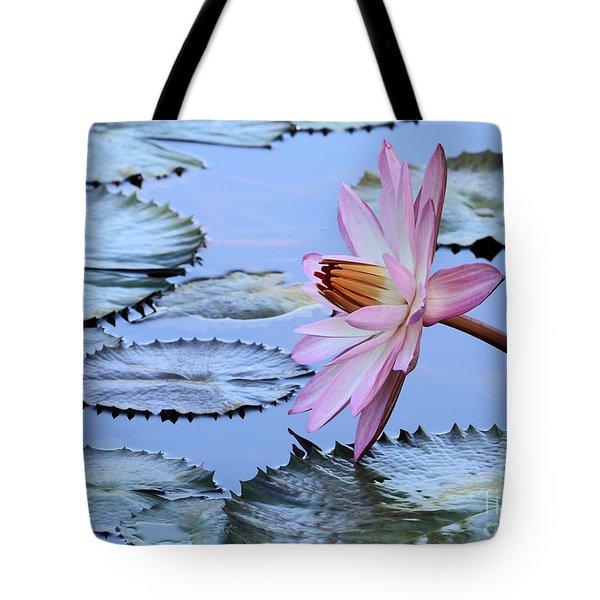 Pink Water Lily Tote Bag by Sabrina L Ryan