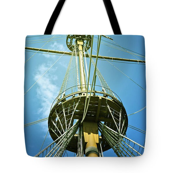 Pirate Ship Tote Bag by Joana Kruse