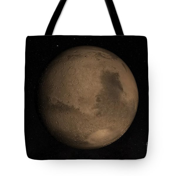 Planet Mars Tote Bag by Stocktrek Images