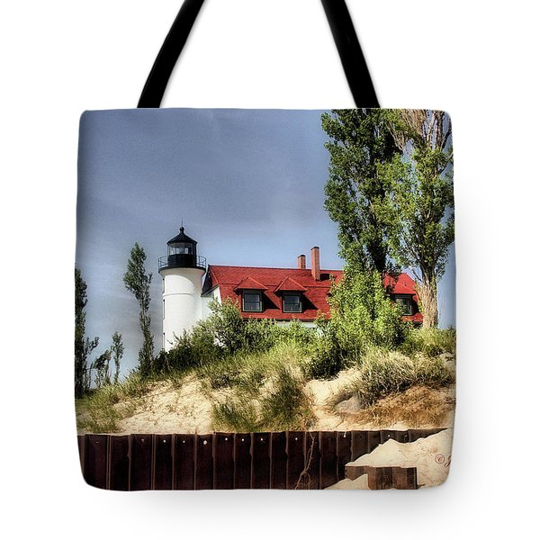 Tote Bag featuring the photograph Point Betsie Lighthouse II by Joan Bertucci