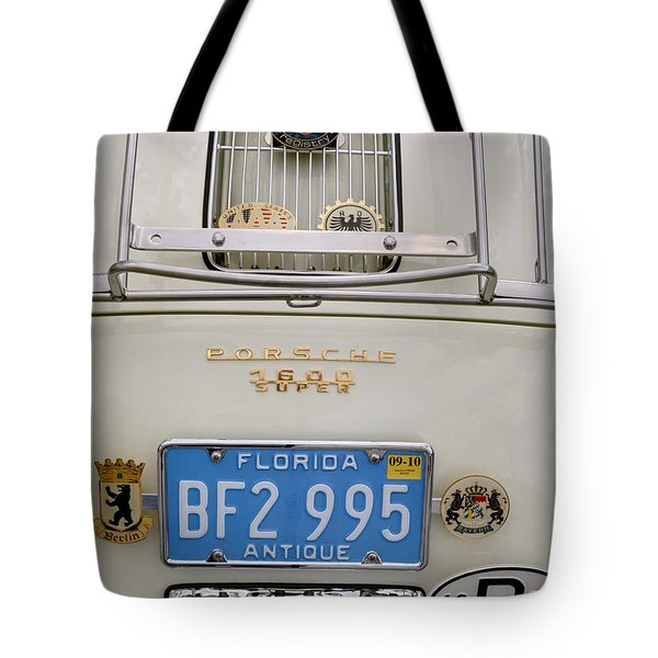Porsche 1600 Super 1959 Rear View. Miami Tote Bag