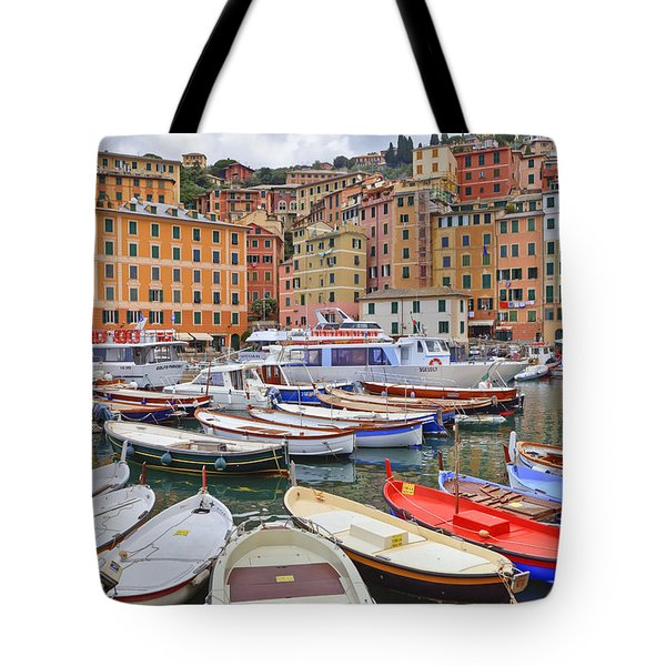 Port Of Camogli Tote Bag by Joana Kruse