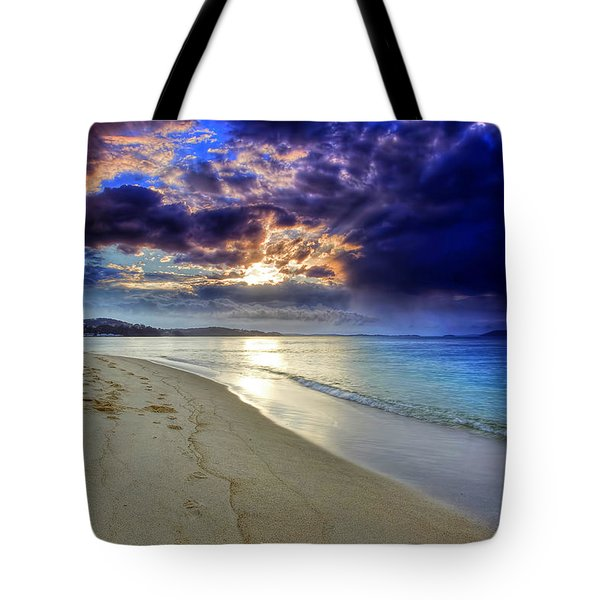 Tote Bag featuring the photograph Port Stephens Sunset by Paul Svensen