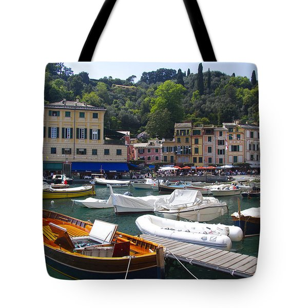 Portofino In The Italian Riviera In Liguria Italy Tote Bag by David Smith