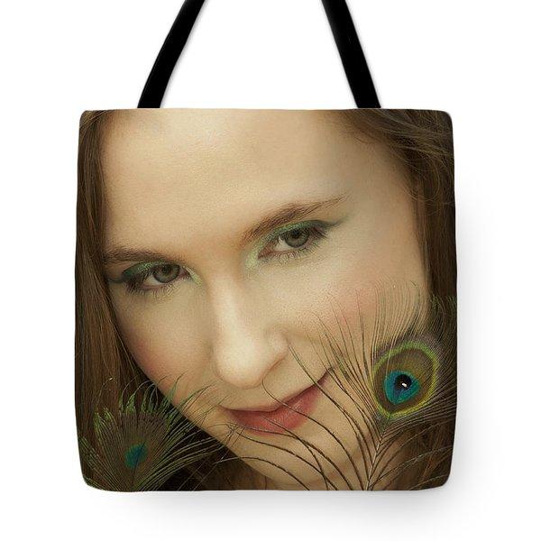 Portrait Tote Bag by Daniel Csoka