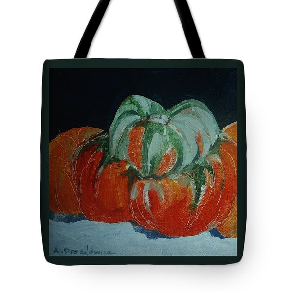Pumpkins Tote Bag by Andrew Drozdowicz