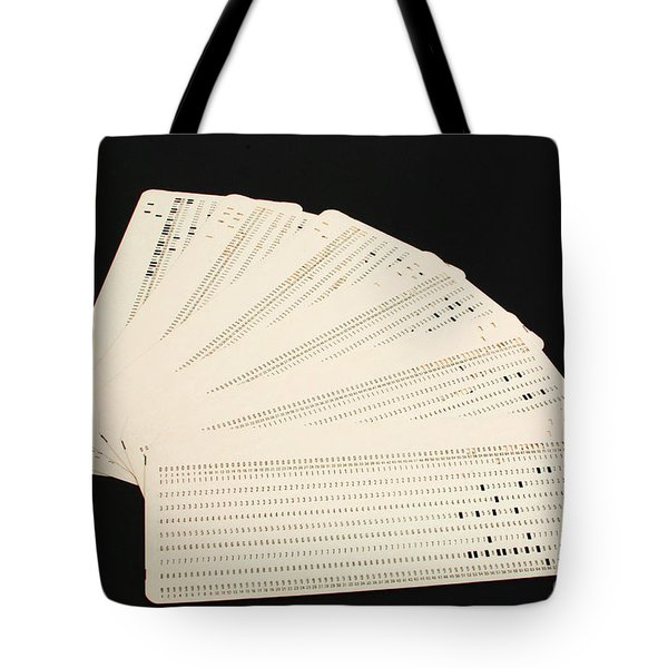 Punch Cards Tote Bag by Photo Researchers, Inc.