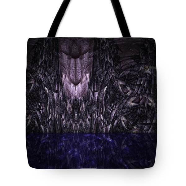 Purple Caverns Tote Bag by Christopher Gaston