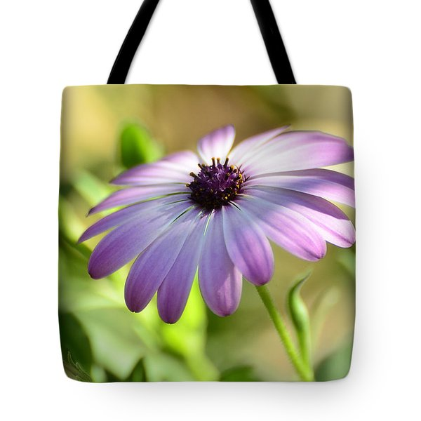 Purple Daisy  Tote Bag by Saija  Lehtonen