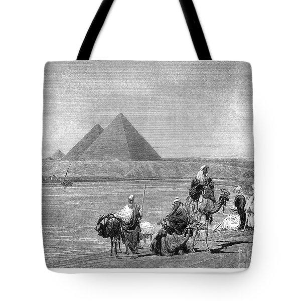 Pyramids At Giza, 1882 Tote Bag by Granger