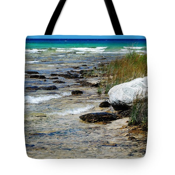 Quiet Waves Along The Shore Tote Bag