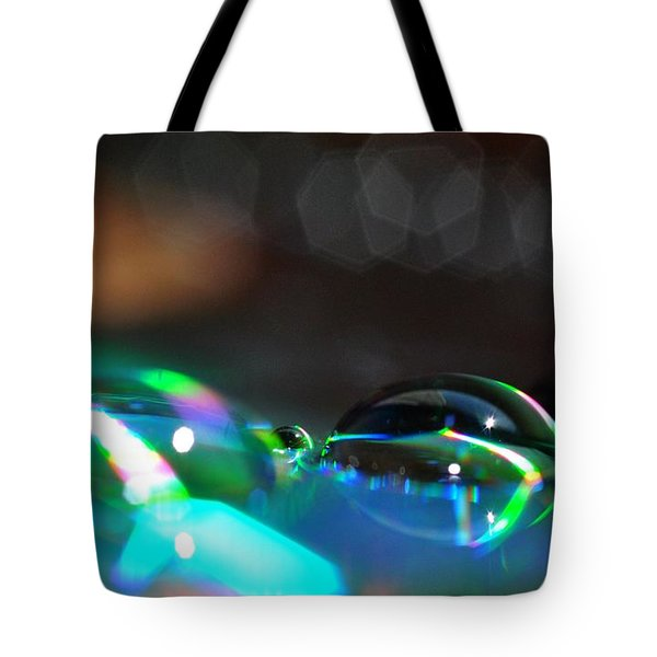 Rainbow Drops Tote Bag