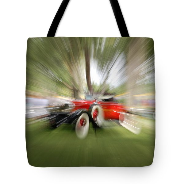 Red Antique Car Tote Bag by Randy J Heath