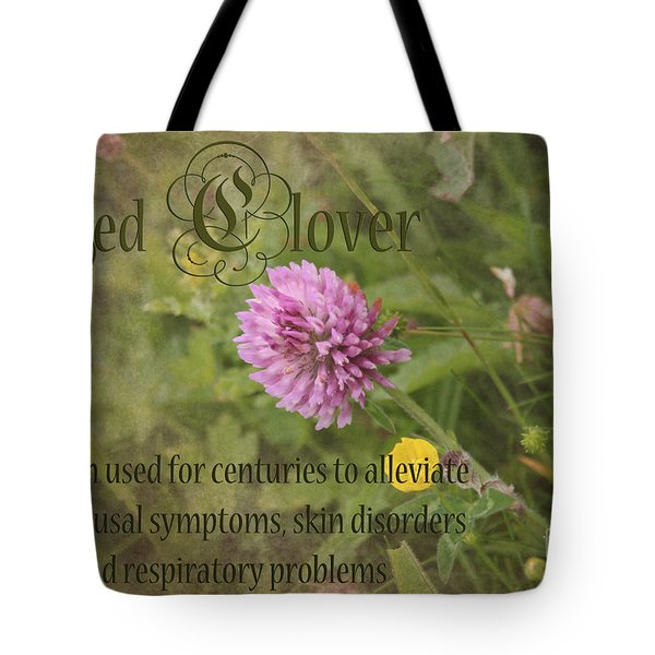 Red Clover Tote Bag by Carole Lloyd