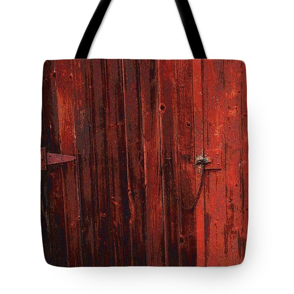 Red Shed Tote Bag by RC DeWinter