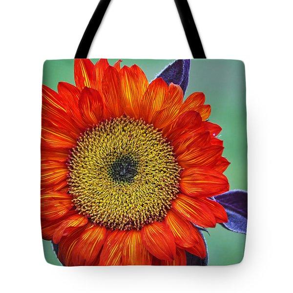 Red Sunflower  Tote Bag by Saija  Lehtonen