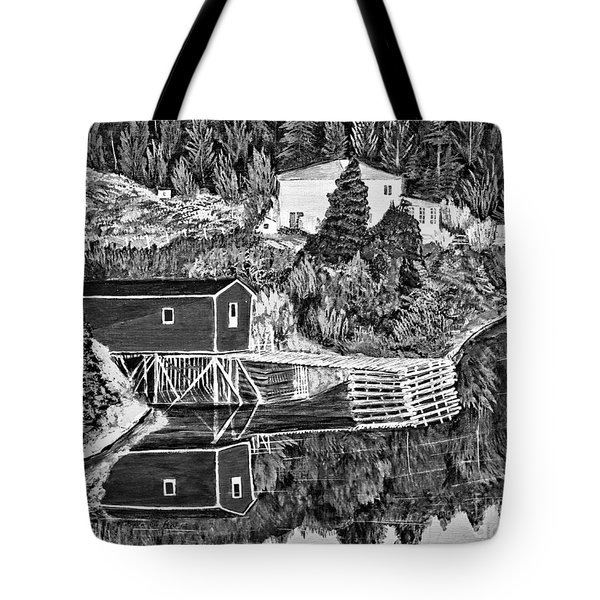 Reflections B W Tote Bag by Barbara Griffin