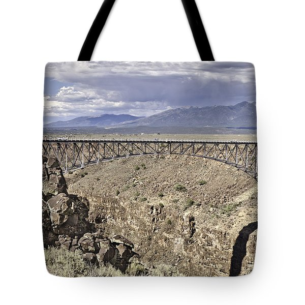 Rio Grande Gorge Bridge Tote Bag by Melany Sarafis