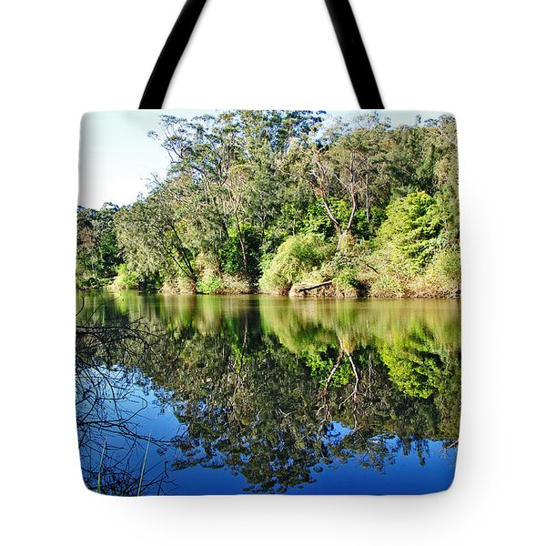 River Reflections Tote Bag by Kaye Menner