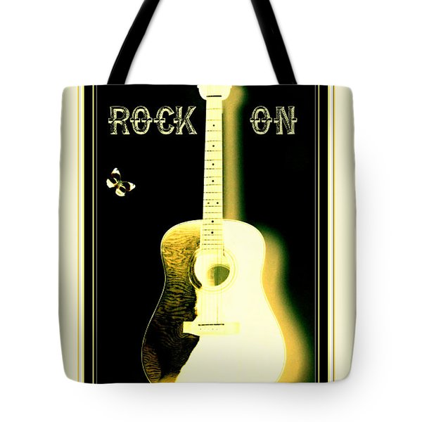 Rock On Guitar Tote Bag by Danielle  Parent