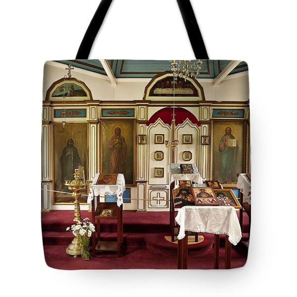 Russian Orthodox Church Tote Bag by John Greim