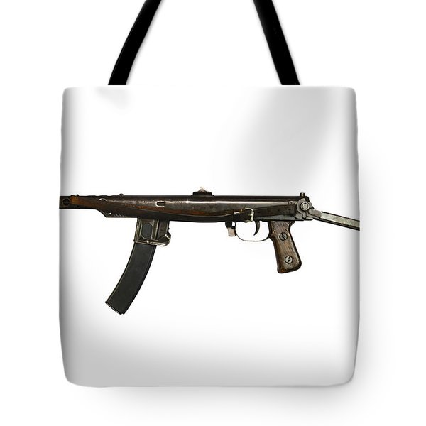 Russian Pps-43 Submachine Gun Tote Bag by Andrew Chittock