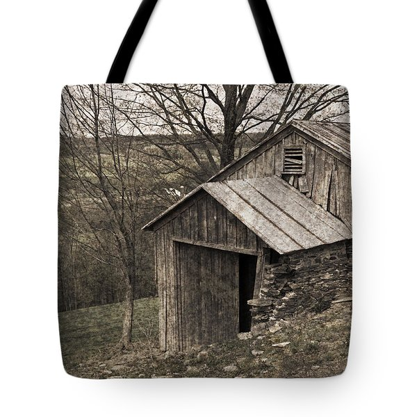 Rustic Hillside Barn Pasture Tote Bag by John Stephens