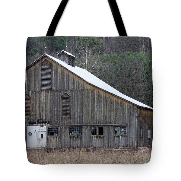 Rustic Weathered Mountainside Cupola Barn Tote Bag by John Stephens
