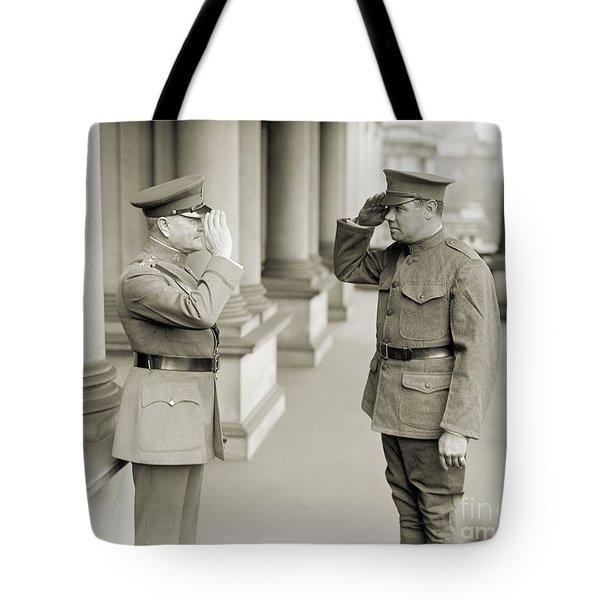 Ruth & Pershing, 1924 Tote Bag by Granger