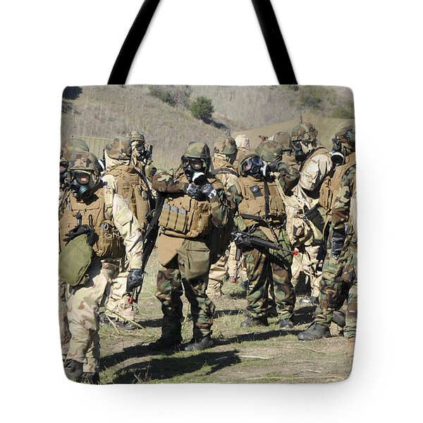 Sailors Dressed In Full Mission Tote Bag by Stocktrek Images