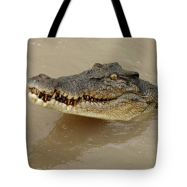 Salt Water Crocodile 3 Tote Bag