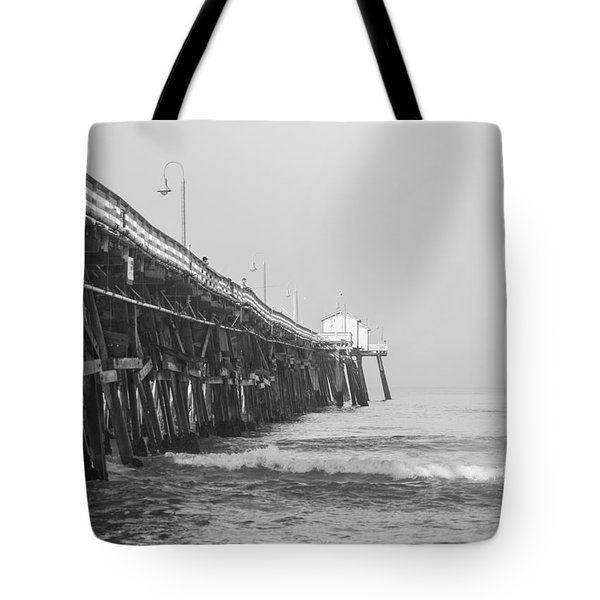 San Clemente Pier Tote Bag by Ralf Kaiser