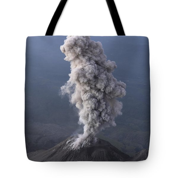 Santiaguito Ash Eruption, Guatemala Tote Bag by Martin Rietze