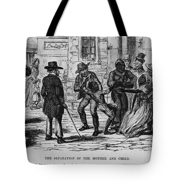 Scene From Uncle Toms Cabin Tote Bag by Photo Researchers