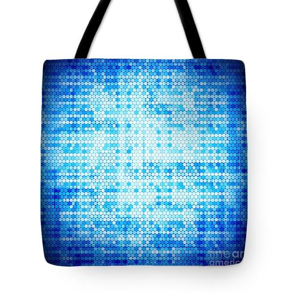 Seamless Honeycomb Pattern Tote Bag by Setsiri Silapasuwanchai
