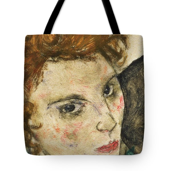 Seated Woman With Bent Knee Tote Bag by Egon Schiele